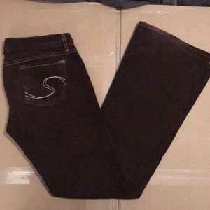 Size 4 Chocolate Brown Corduroy flare pants